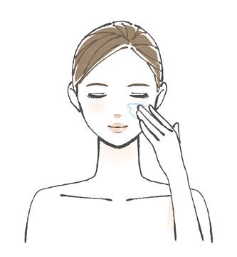 Spalmare il Gel di puro acido Jaluronico BeBeauty per attenuare istantaneamente le rughe