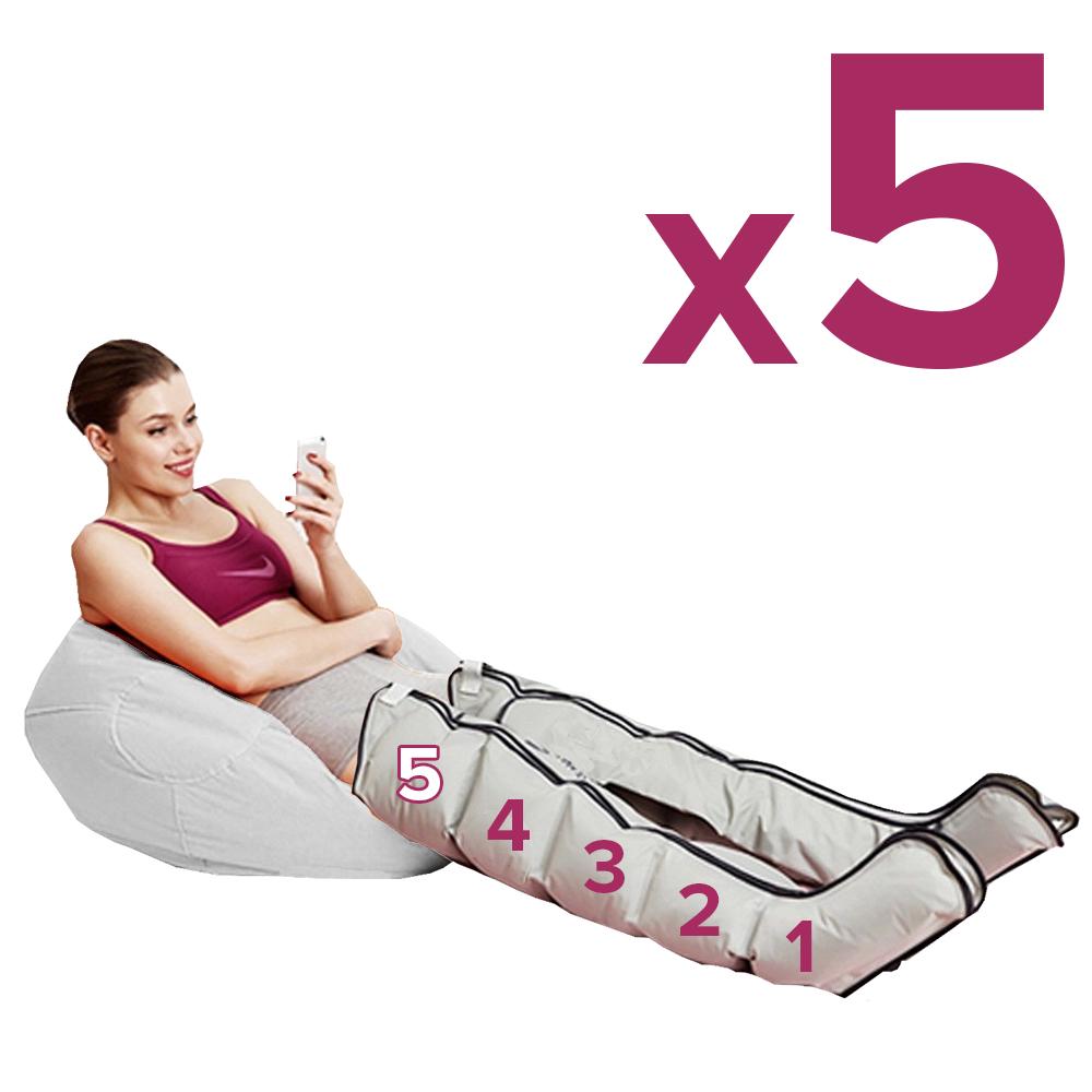 Pressoterapia estetica PressoEstetica JoySense 2.0 con gambali a 5 camere per un massaggio lineare e fluido