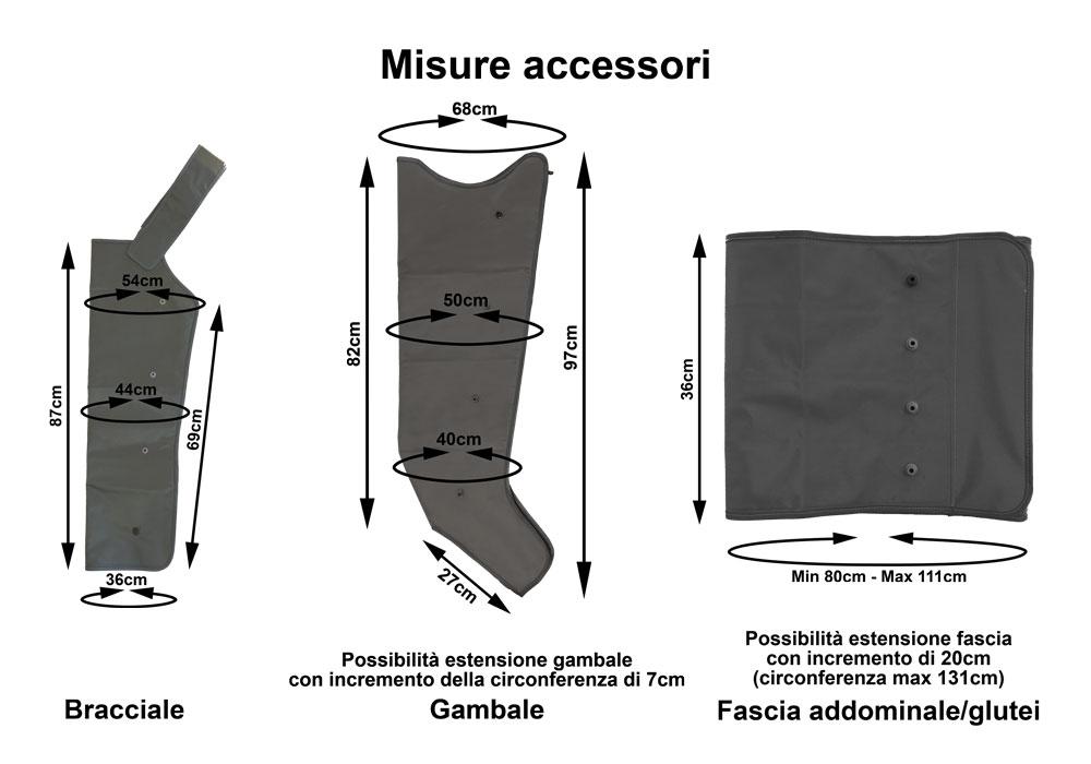Mesis PressoMassaggio Plus: misure degli accessori