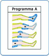 PressoMassaggio MESIS® EkÓ con un programma sequenziale: configurazione con 2 gambali e Kit Slim Body